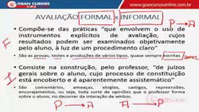 Aula 16 - Avaliação -Avaliação escolar e suas implicações pedagógicas. II