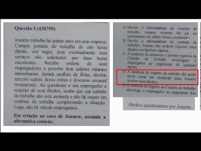 Legislação Social e Trabalhista - prova Unopar- #prova1 #parte2