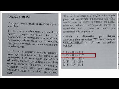 Legislação Social e Trabalhista - prova Unopar- #prova1 #parte3