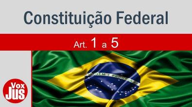 Constituição Federal - Arts 1 a 5 - Princípios Fundamentais