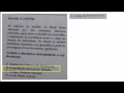 Legislação Social e Trabalhista - prova Unopar- #prova2 #parte3
