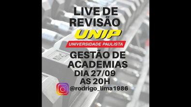 AULA DE REVISÃO 2 UNIP - GESTÃO DE ACADEMIAS