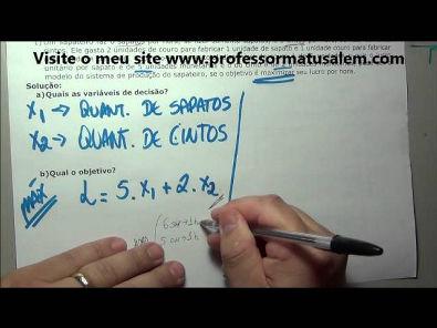 PO - 1 - modelo de programação linear - exercício resolvido 1