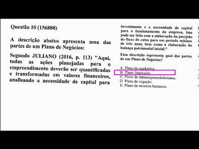 EMPREENDEDORISMO - prova Unopar- #prova3 #parte3