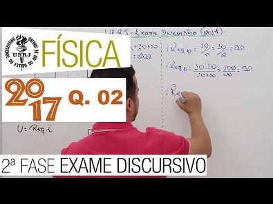 Uerj 2017 - Exame Discursivo Física - Questão 02