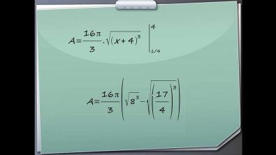 Área da superfície de revolução - Calculo de Integral exercício resolvido