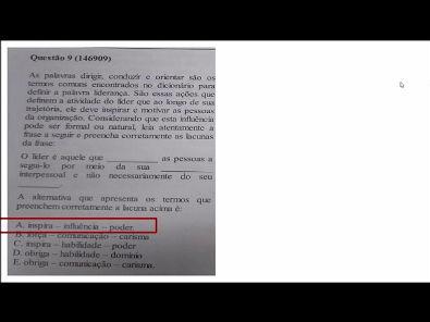 Comportamento Organizacional- prova Unopar- 2019 #prova6 #parte3