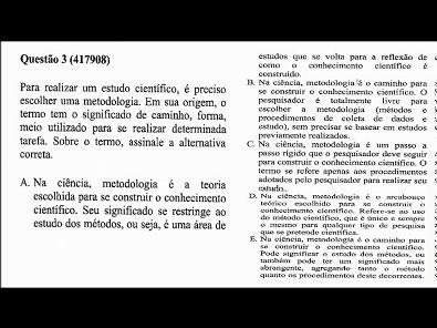 METODOLOGIA CIENTÍFICA - prova Unopar- 2018 #prova2 #parte1