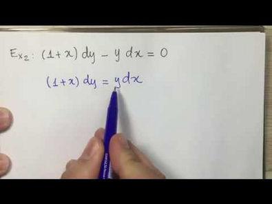 EDO Equações Diferenciais Separáveis