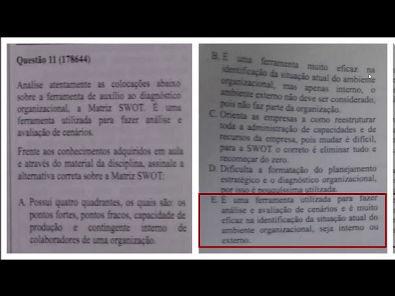 DIAGNÓSTICO E INTERVENÇÃO EMPRESARIAL - prova Unopar- #prova2#parte3