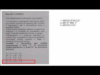 Legislação Social e Trabalhista - prova Unopar- #prova3 #parte1