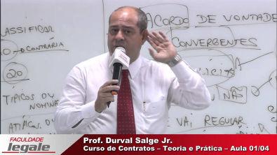 AULA 1/4 - CURSO DE CONTRATOS - TEORIA E PRÁTICA - PROF DURVAL SALGE JR