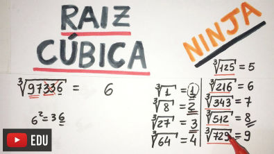 RAIZ CÚBICA (MÉTODO NINJA) | Matemática Show