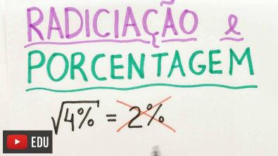 RAIZ QUADRADA DE 4% = 2%?   Matemática Show