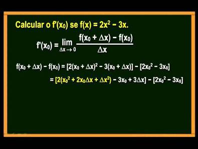Curso de Cálculo Diferencial e Integral - Aula 01
