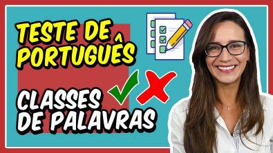 TESTE de PORTUGUÊS CLASSES DE PALAVRAS (Morfologia) || Português com Letícia