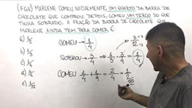 FGV - 2 QUESTÕES DE CONCURSOS - FRAÇÃO E PORCENTAGEM - Prof Robson Liers - Mathematicamente
