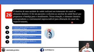 Resoluções de questões de concurso público para ASB e TSB - Prof. Dr. Wedson Vila Nova_9UpvZoYlqQo_1080p26