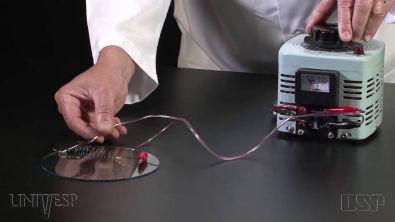 Experimento Corrente Elétrica e Lei de Ohm | Experimentos - Efeito Joule