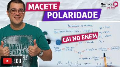 Macete para determinar polaridade de molécula - dica rápida