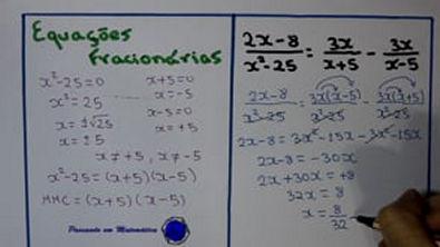 Equação Fracionária - Veja como e fácil!