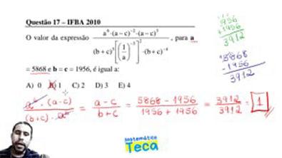 Expressão Algébrica e Valor Numérico
