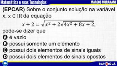 MATEMÁTICA EPCAR - QUESTÃO 1