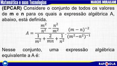 MATEMÁTICA EPCAR - QUESTÃO 7