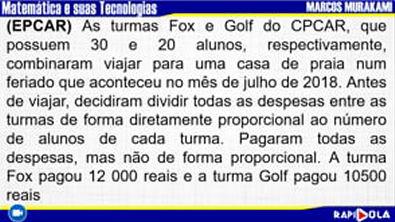 MATEMÁTICA EPCAR - QUESTÃO 9