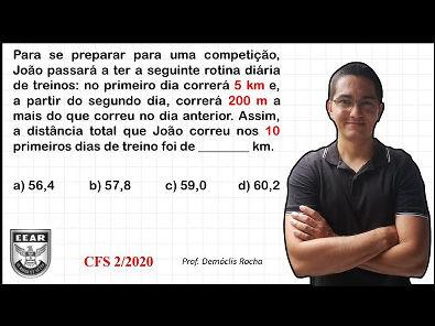 PROGRESSÃO ARITMÉTICA - EEAR - CFS 2020