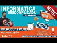 Informática - Microsoft Word - Aula 1 - Apresentação - Agora Vai!