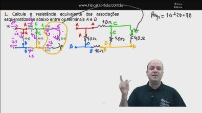 Correção do exercício 1) III dos testes de treinamentoCálculo da resistência equivalente de um circuito misto