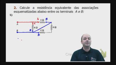 Correção do exercício 2) b) dos testes de treinamento Cálculo da resistência equivalente de um circuito misto