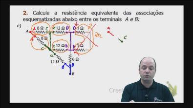 Correção do exercício 2)c) dos testes de treinamento Cálculo da resistência equivalente de um circuito misto