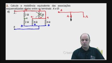 Correção do exercício 2) d) dos testes de treinamento Cálculo da resistência equivalente de um circuito misto