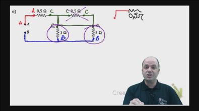 Correção do exercício 2) e) dos testes de treinamento Cálculo da resistência equivalente de um circuito misto