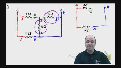 Correção do exercício 2) f) dos testes de treinamento Cálculo da resistência equivalente de um circuito misto