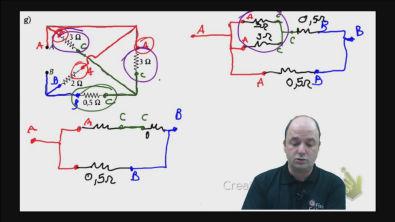 Correção do exercício 2) g) dos testes de treinamento Cálculo da resistência equivalente de um circuito misto