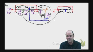 Correção do exercício 2) h) dos testes de treinamento Cálculo da resistência equivalente de um circuito misto