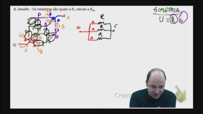 DESAFIO Correção do exercício 3) B) dos testes de treinamentoCálculo da resistência equivalente de um circuito misto