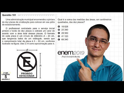 ENEM 2019 - QUESTÃO DAS DEZ PLACAS - #151