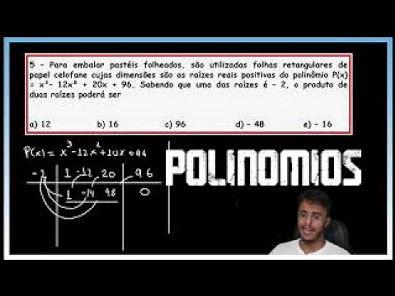 Matemática Básica - Polinômios / Briot Ruffini/Teorema do resto