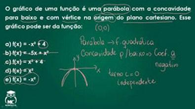 Introdução ao Cálculo - Função quadrática 1 - Questão 7