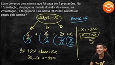 PROBLEMA ENVOLVENDO EQUAÇÕES DO 1 ° GRAU-4