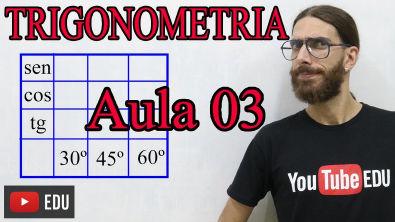 Tabela trigonométrica - ARCOS NOTÁVEIS - Trigonometria - AULA 03 - Prof Rafa Jesus
