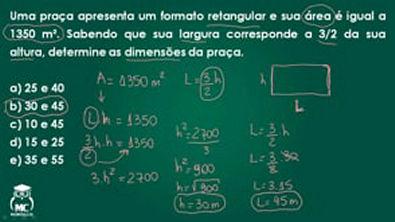 Função quadrática 1 - Introdução ao cálculo -Questão 9