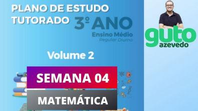 PET Volume 2 | 3º ano Ensino Médio | Semana 4 | Matemática | Correção das atividades | Guto Azevedo