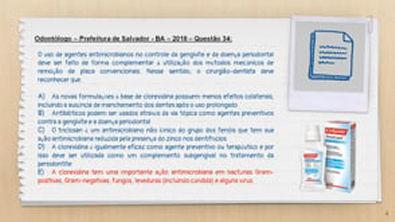 Triclosan e Clorexidina no Controle de Placa - Questao #44 - Concurso Publico de Odontologia