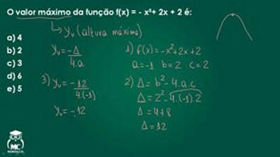 Função quadrática 2 - Introdução ao cálculo - Questão 02
