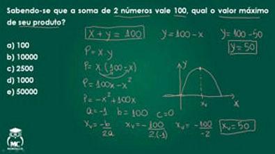 Função quadrática 2- Introdução ao cálculo - Questão 03